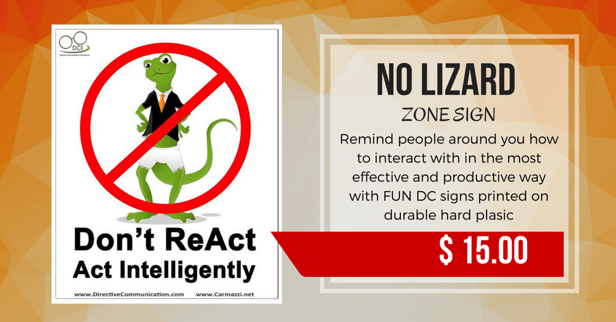 No lizard Zone Sign/Being Right